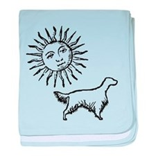 English Setter & Sun baby blanket