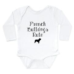 French Bulldogs Rule Long Sleeve Infant Bodysuit