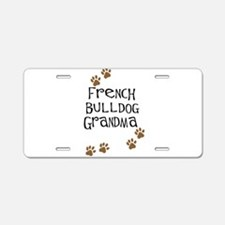 French Bulldog Grandma Aluminum License Plate