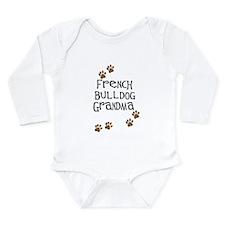 French Bulldog Grandma Long Sleeve Infant Bodysuit
