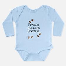 French Bulldog Grandpa Long Sleeve Infant Bodysuit