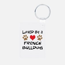 Loved By A French Bulldog Keychains