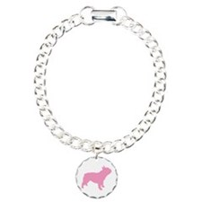 Pink French Bulldog Charm Bracelet, One Charm