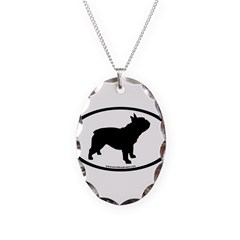 French Bulldog Oval Necklace