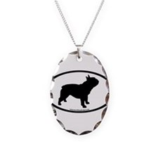 French Bulldog Oval Necklace Oval Charm