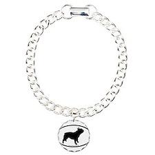 French Bulldog Oval Charm Bracelet, One Charm