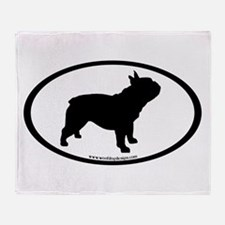 French Bulldog Oval Throw Blanket