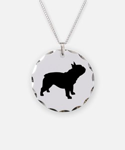 French Bulldog Necklace Circle Charm