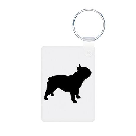 French Bulldog Aluminum Photo Keychain