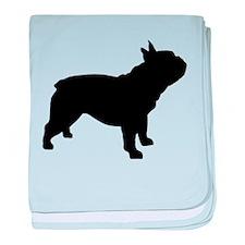 French Bulldog baby blanket