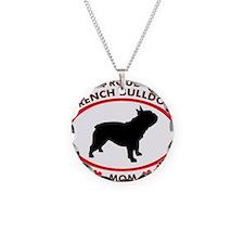 French Bulldog Mom Necklace Circle Charm