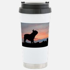 French Bulldog Sunset Stainless Steel Travel Mug