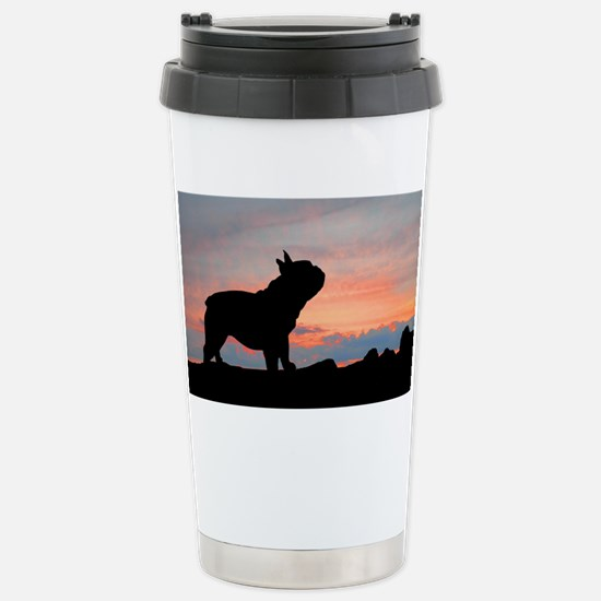 French Bulldog Sunset Stainless Steel Travel Mug