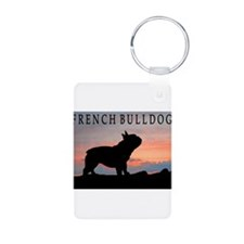 French Bulldog Sunset Keychains