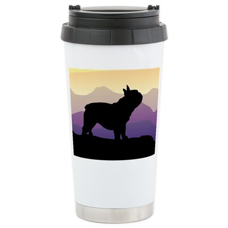 Frenchie Purple Mt. Stainless Steel Travel Mug