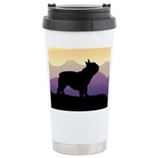 Frenchie Purple Mt. Travel Coffee Mug