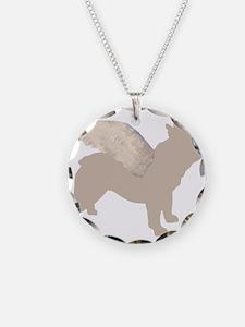 Angel Frenchie Dog Necklace