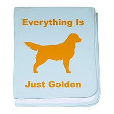 Just Golden baby blanket