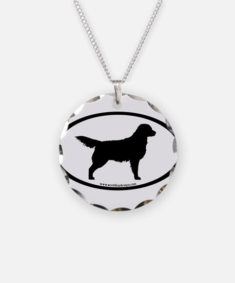 Golden Retriever Oval Necklace