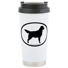 Golden Retriever Oval Travel Mug