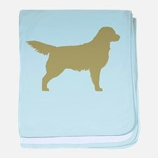 Sage Golden Retriever baby blanket