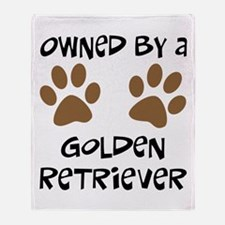 Owned By A Golden... Throw Blanket