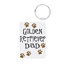 Golden Retriever Dad Keychains