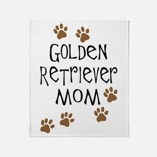 Golden Retriever Mom Throw Blanket