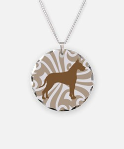 Tan & Brown Great Dane Necklace