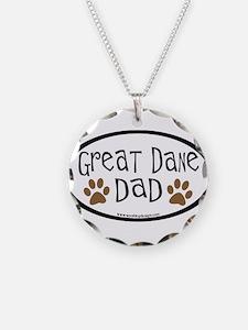 Great Dane Dad Necklace