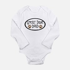 Great Dane Dad Long Sleeve Infant Bodysuit