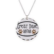 Great Dane Mom Oval Necklace