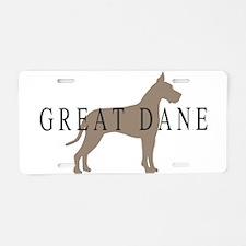 great dane greytones Aluminum License Plate