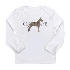 great dane greytones Long Sleeve Infant T-Shirt