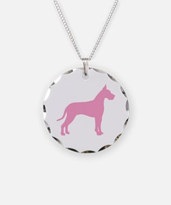 Pink Great Dane Necklace