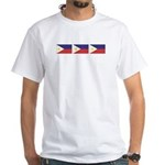 3 Philippine Flags White T-Shirt