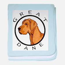 Brindle Great Dane baby blanket