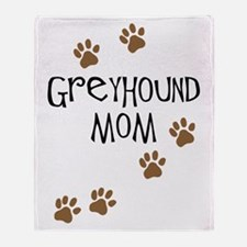 Greyhound Mom Throw Blanket