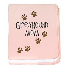 Greyhound Mom baby blanket