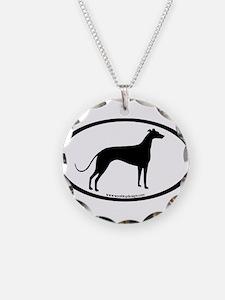 Greyhound Oval Necklace