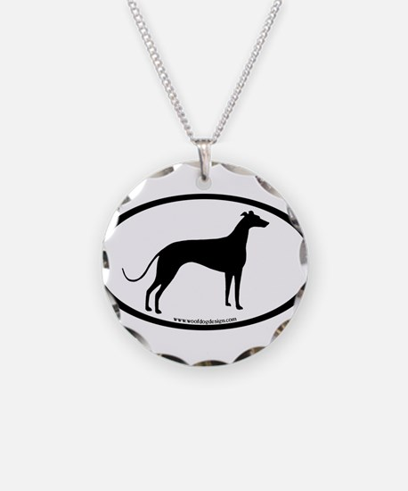 Greyhound Oval Necklace