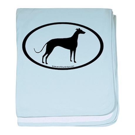 Greyhound Oval baby blanket