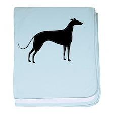 Greyhound Dog baby blanket