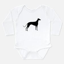 Greyhound Dog Long Sleeve Infant Bodysuit