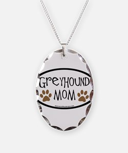 Greyhound Mom Oval Necklace