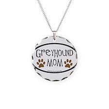 Greyhound Mom Oval Necklace