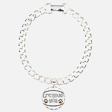 Greyhound Mom Oval Bracelet