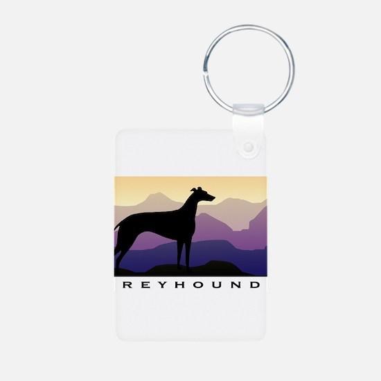 Unique Dog breeds Aluminum Photo Keychain