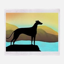 Cool Greyhounds Throw Blanket