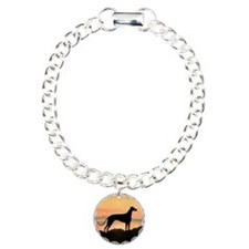 Greyhound Sunset Charm Bracelet, One Charm